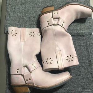Frye Blush Pink Harness Boot 77700 Size 8.5